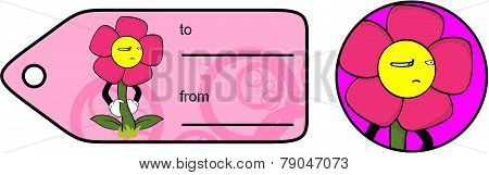unhappy flower cartoon giftcard