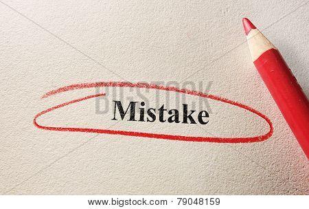 Red Circle Mistake
