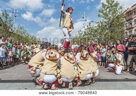 Cercavila Performance Within Vilafranca Del Penedes Festa Major