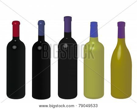 Wines Of The World Without Labels 3D