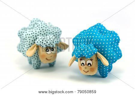 Two toy lamb