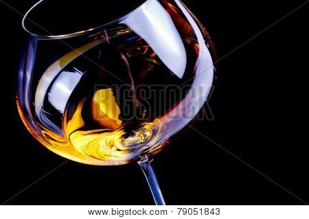 White Wine Glasses With Space For Text