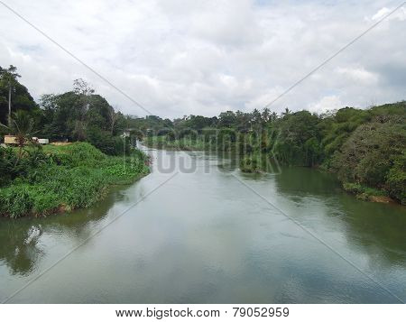 Waterside Scenery In Sri Lanka
