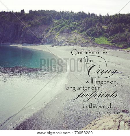 Scenic Ocean Instagram With Quote