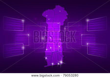 Benin Map World Map News Communication Purple