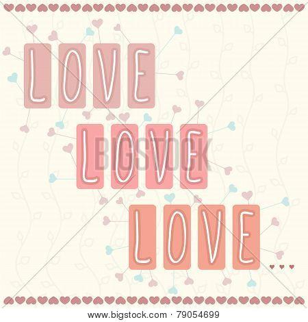 Gift Card. Valentine's Day. Love, Love, Love...