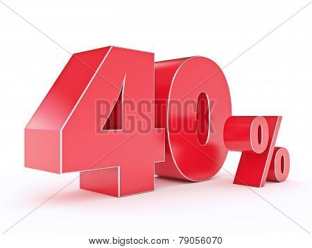 3D rendering of a 40 percent discount