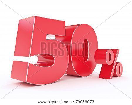 3D rendering of a 50 percent discount