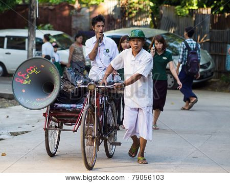 Religious Propaganda In Yangon, Myanmar
