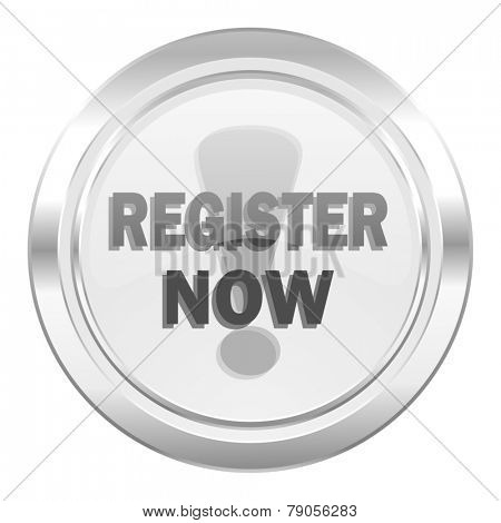 register now metallic icon