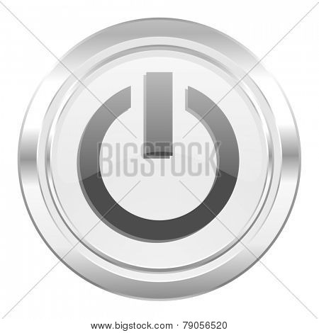 power metallic icon on off sign