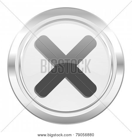 cancel metallic icon x sign
