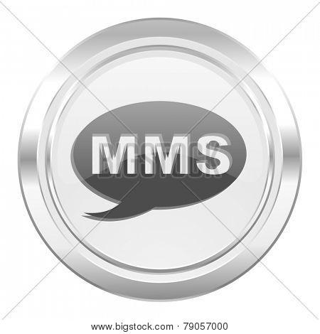 mms metallic icon message sign