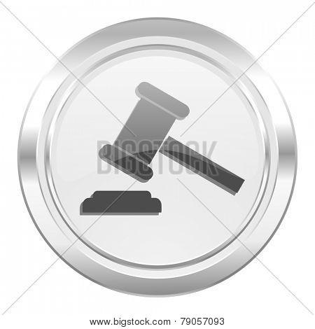 auction metallic icon court sign verdict symbol