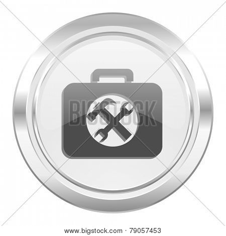 toolkit metallic icon service sign