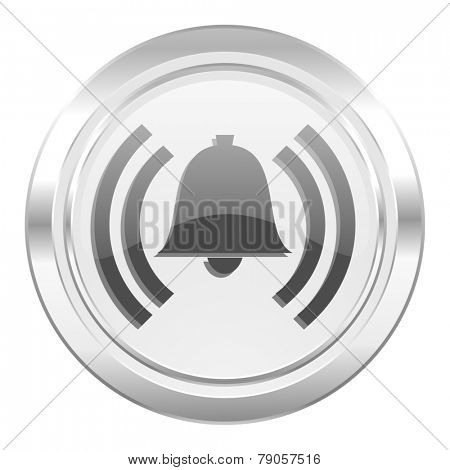 alarm metallic icon alert sign bell symbol