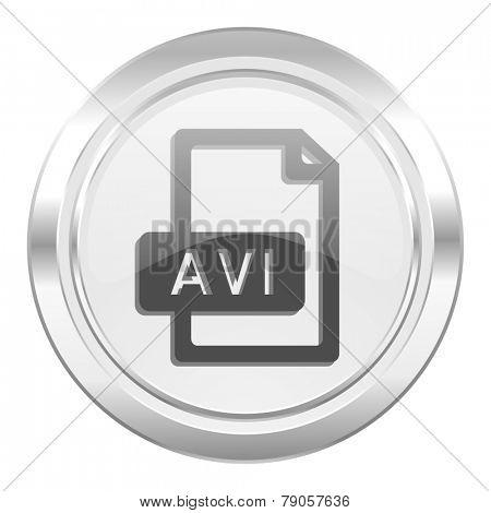 avi file metallic icon