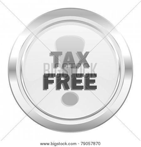 tax free metallic icon