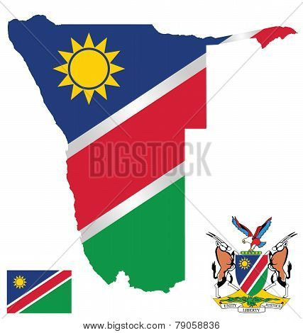 Republic of Namibia Flag