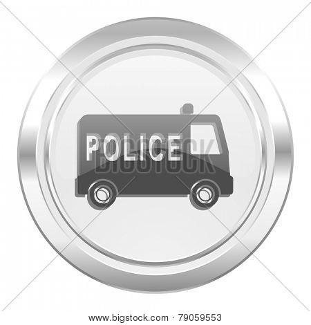 police metallic icon