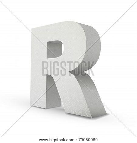 White Letter R