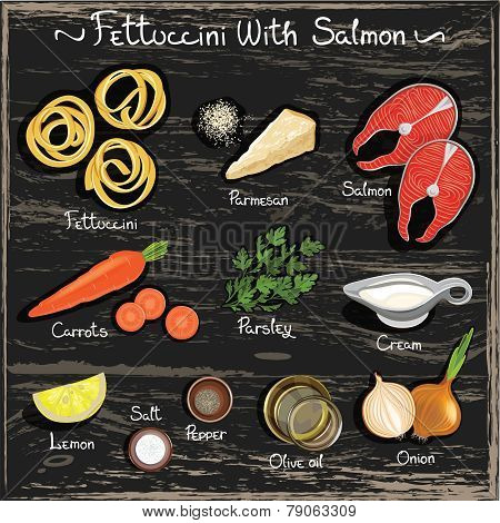 Fettuccini with Salmon
