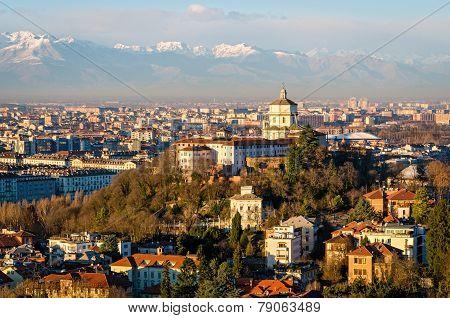 Turin (torino), Monte Dei Cappuccini And Alps