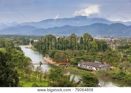 Landscape of Vang Vieng, Laos.