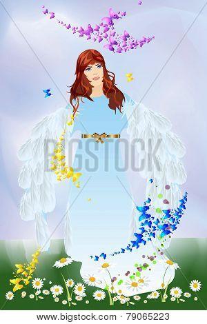 Spring angel,