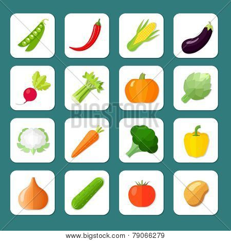 Vegetables Icon Flat