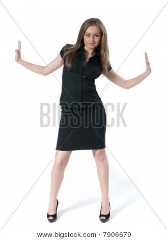 Attractive business lady under pressure - Business collection