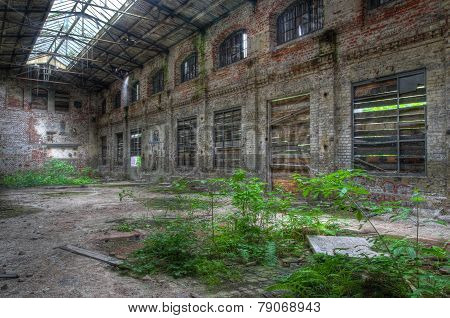 Large Old Abandoned Factory Building