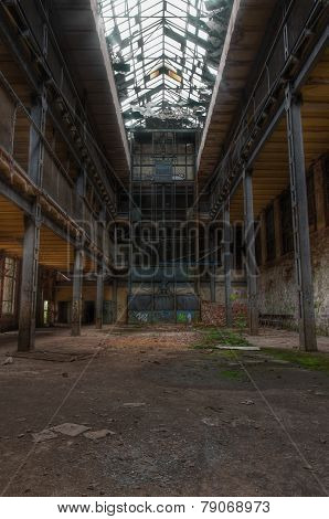 Large Old Abandoned Hall