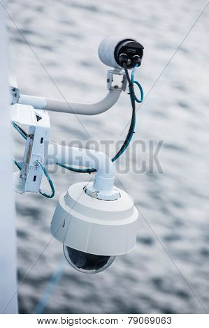 Security Camera On Bulkhead