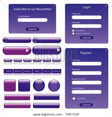 Purple Web Template
