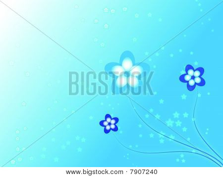 Blue Flowers Background