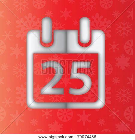 Calendar 25Th date icon