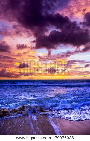 Beautiful View of stormy seascape