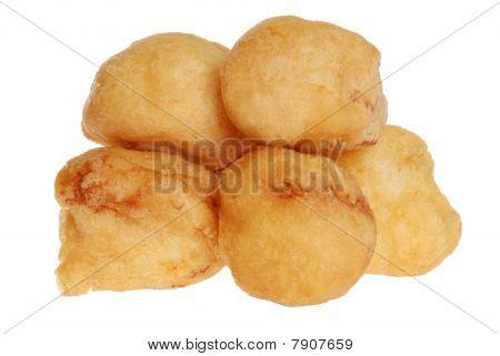 isolated chicken balls