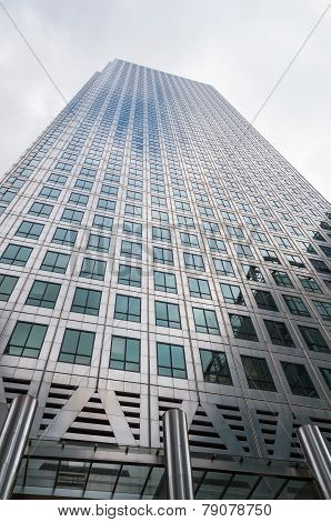 Closeup Of One Canada Square Skyscraper