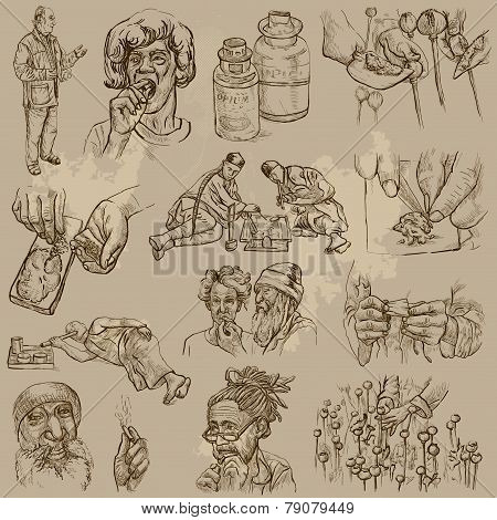 Drugs - Hand Drawn Vector