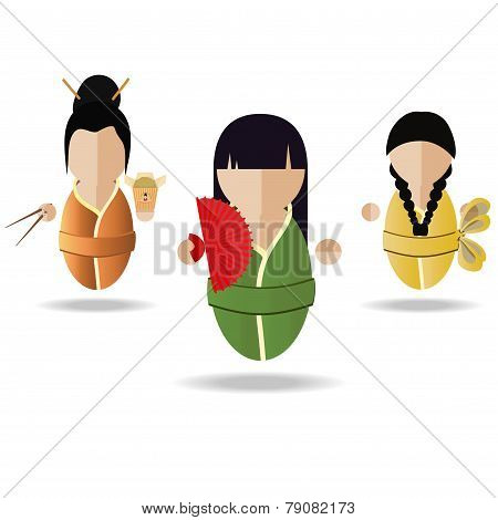 Three Asian Girl