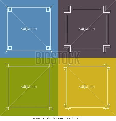 Set of vector frame