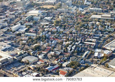 aerial view of city of Charleston South Carolina