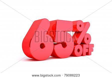 65% Off 3D Render Red Word Isolated in White Background
