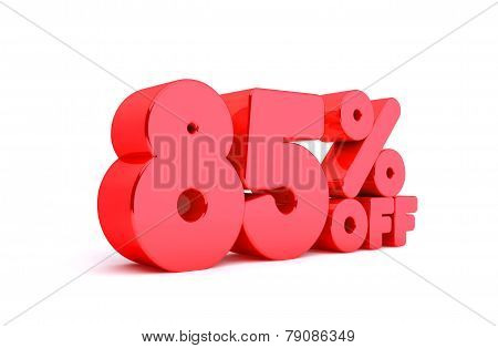 85% Off 3D Render Red Word Isolated in White Background