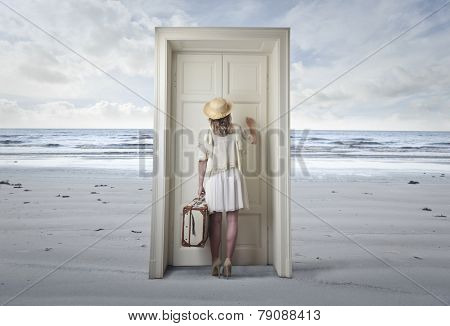 The door at the beach