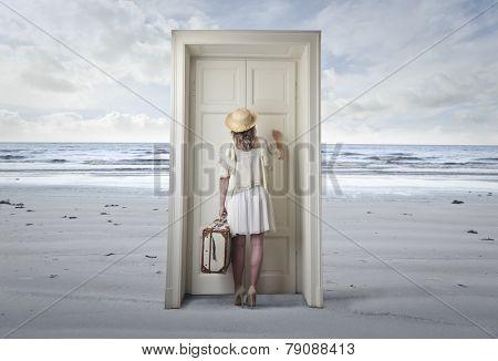 The door at the beach