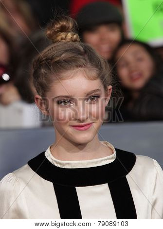 LOS ANGELES - NOV 11:  Willow Shields arrives to the