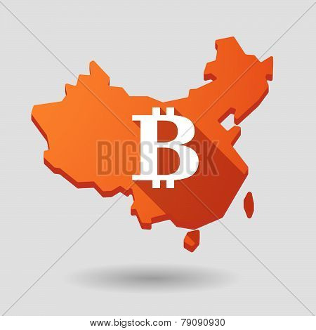 China Map Icon With A Currency Sign